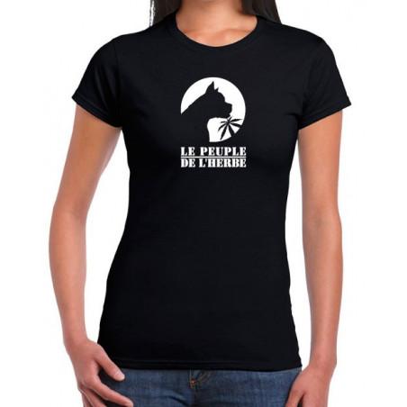 T-Shirt Fille Boxer Noir impression Blanche