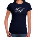 T-Shirt Fille Magneto Navy impression blanche