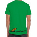 "Green Next Level ""Le Peuple de l'Herbe"" Lettering T-shirt yellow, brown & black print"